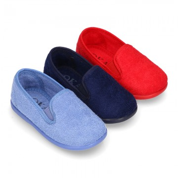 Kids Terry Home fabric Slip on sneakers.