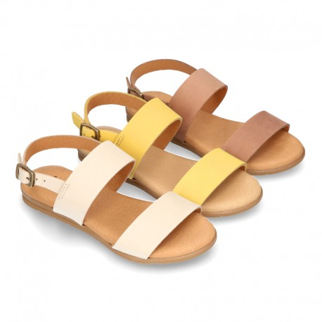 NOBUCK Leather sandal shoes to dress for girls.