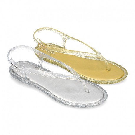 New T-Strap jelly shoes classic sandal style.