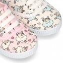 New Cotton canvas sneaker shoes with little SHEEP print design.