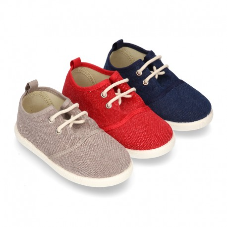 New Washed Cotton canvas sneaker shoes with bellow tongue style.