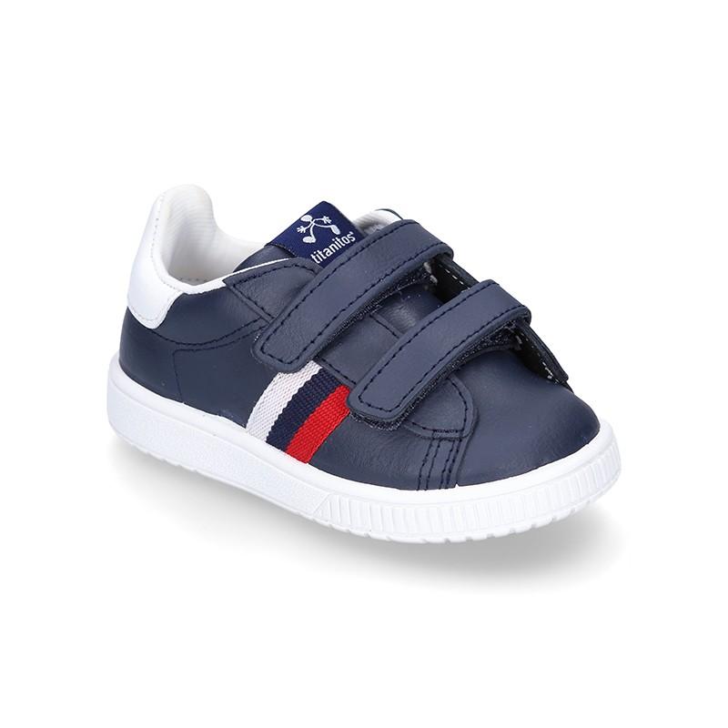 Tienda online de zapatillas de piel lavable Titanitos con doble ... 2158774702c