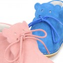 Little Baby Bear Safari boots in suede leather and seasonal colors.