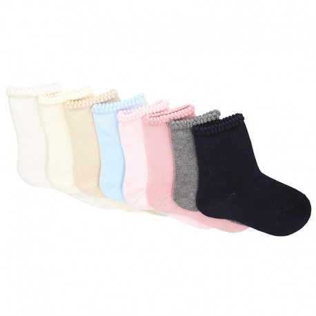 SHORT SOCKS WITH OPEN WORKED CUFFK BY CONDOR.