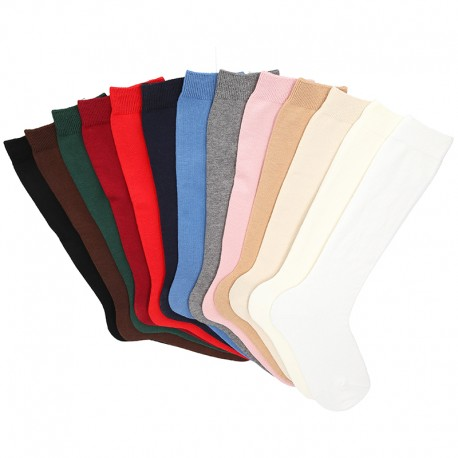 CHILDREN´S BASIC COTTON KNEE-HIGH SOCKS BY CONDOR.