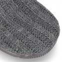 Botita de casa niños velcro oculto en lana.