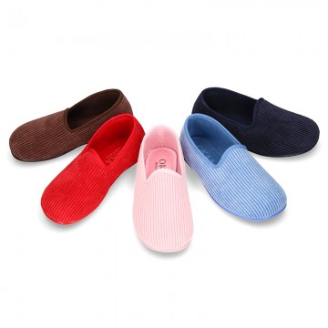 New classic CORDUROY knit closed home shoes for bigger sizes.
