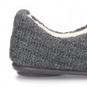 New structured wool knit closed home shoes.