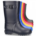 Classic Rain boots style with buckle design for KIDS.