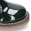 Classic Safari boots with SUPER FLEXIBLE soles in Patent leather.