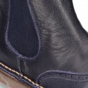 Casual Nappa leather ankle boot shoes with elastic band. LIMITED EDITION.
