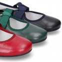 New SOFT nappa leather little Mary Jane shoes angel style in fall colors.