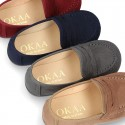 New Autumn winter canvas Moccasin shoes for little kids.