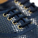 Autumn winter canvas LACES UP shoes with snake print design.