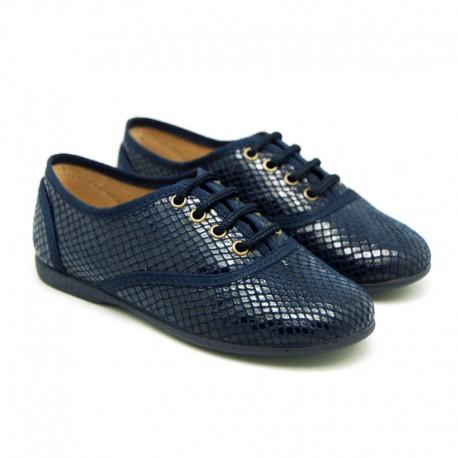 Zapato tipo BLUCHER en Serratex estampado tipo pitón.