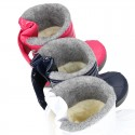 New Little rain boots APRESKI style with wool knit lining.