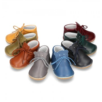 Little BEAR design safari boots in extra soft nappa leather for babies.