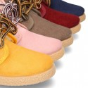 Autumn winter canvas casual ankle boots mountain style with fake hair lining.