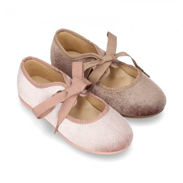 SATIN VELVET canvas Ballet flat shoes angel style.