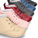 New Little ankle boots for babies with non slip sole in Nappa leather.