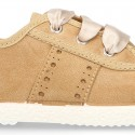 New serratex canvas FASHION tennis shoes with ties closure and chopped design.