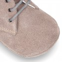 Soft Suede leather safari boots for baby.