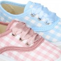 Cotton canvas Bamba shoes with sweet SQUARE design.