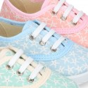 Cotton canvas Bamba shoes with STARFISH design.
