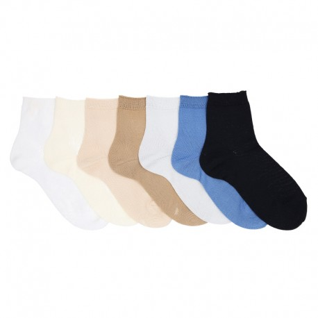 PLAIN STITCH SHORT SOCKS BY CONDOR.