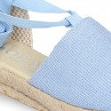 Cotton canvas girl espadrilles shoes Valenciana style.