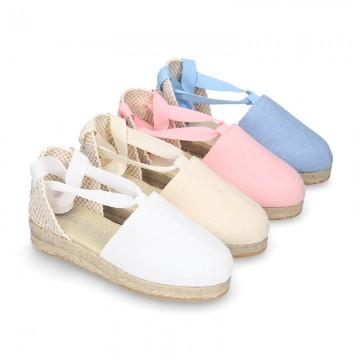 comprar zapatos para correr obtener online Alpargata tipo Valenciana en lona piqué.