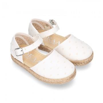 PLUMETI COTTON canvas little espadrille style shoes.