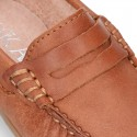 Classic LEATHER color Moccasin shoes with detail mask.