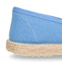 Cotton canvas SLIP ON espadrille shoes for kids.