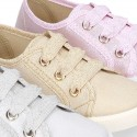 New METAL Cotton canvas Bamba shoes.