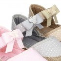 LITTLE POLKA COTTON canvas baby espadrille shoes with BUTTERFLY design and velcro strap.
