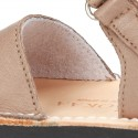 EXTRA SOFT nappa leather Menorquina sandals with flexible outsole and velcro strap.