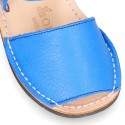 EXTRA SOFT nappa leather Menorquina sandals with flexible outsole and hook and loop strap.