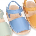 EXTRA SOFT Nappa leather Menorquina sandals with velcro strap.