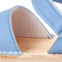 Menorquina Velcro en piel Napa EXTRA SUAVE y suela flexible.