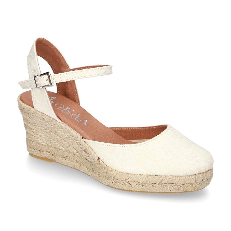 Lona Tienda N0kwp8xzno Tipo De En Diseño Cuña Sandalia Con Alpargatas mv08Nwn