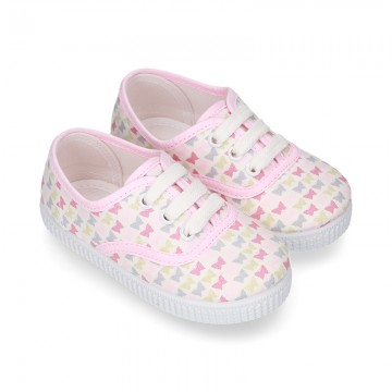 New Cotton canvas sneaker shoes with BUTTERFLIES print design.