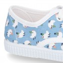 New Cotton canvas sneaker shoes with CHICKS print design.