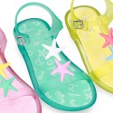 Jelly shoes sandal style with STARFISH design.