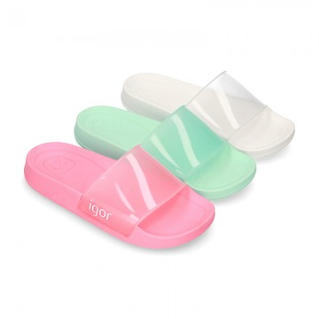 New classic CLOG jelly shoes style in crystal colors.