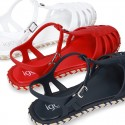 Bicolor jelly shoes with ESPADRILLE design for girls.