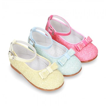 New SOFT GLITTER little Mary Jane shoes GILDA style in seasonal colors.