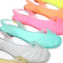 Sandal or Ballet flat style jelly shoes for the Beach and Pool.