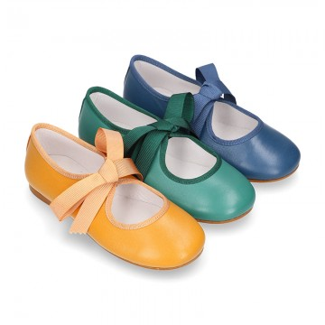 New SOFT nappa leather little Mary Jane shoes angel style in FALL seasonal colors.