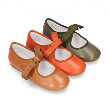 New SOFT nappa leather little Mary Jane shoes angel style in new FALL seasonal colors.